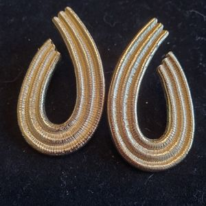 Rare 80's Vintage Givenchy Gold Earrings